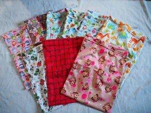 Cloth nappy wet bag