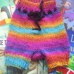 Rainbow woollen soaker