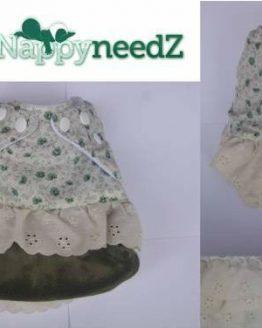 Green vintage pocket nappy